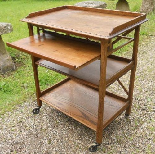 Oak Three Tier Tea Trolley